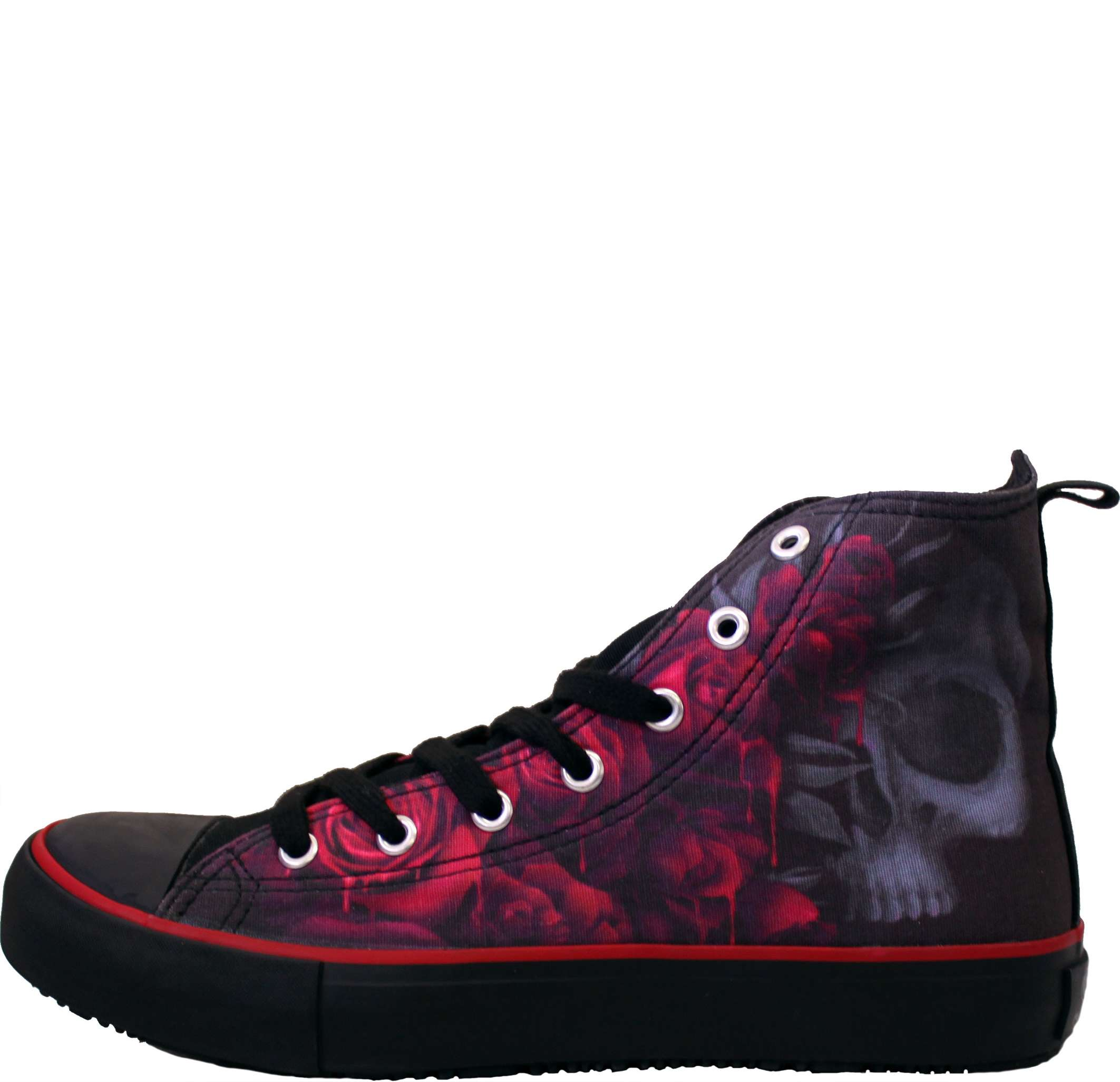 8b49ddc2dc3 BLOOD ROSE - Sneakers - Ladies High Top Laceup - Spiral Direct - Black