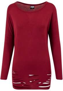 Ladies Cutted Viscose L/S Tee Pia