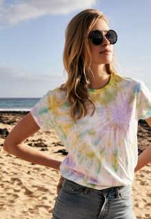 Ladies Tie Dye Boyfriend Tee