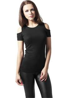 Ladies T-shirt Urban Classics cutted shoulder