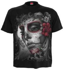 Girls T-Shirt SKULL ROSES