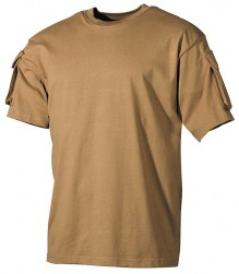 T-shirt with Pockets on Sleeves