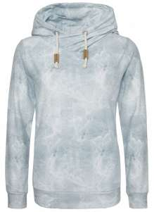 Ladies allover print Zip Hoody Black Rose