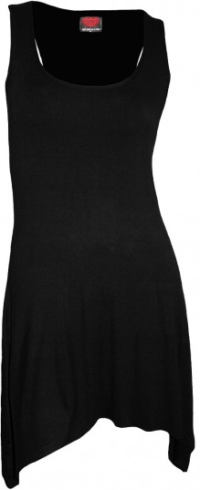 Ladies Dress - Goth Bottom Camisole Dress Black