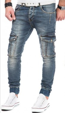 Jeans pants with side pockets