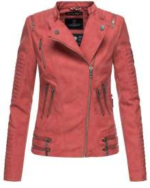 Ladies Leather Imitation Biker Jacket Marikoo AKIKOO