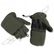Fleece thumb-finger gloves