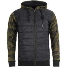 Men camo jacket with hood Black Hawk