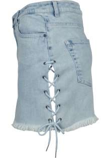 Ladies Denim Lace Up Skirt