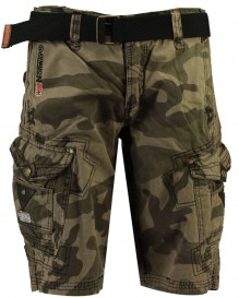 Men camo shorts Geographical Norway Peanut