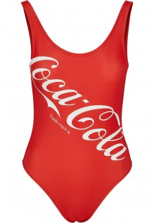 Ladies Coca Cola Logo Swimsuit