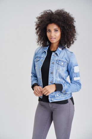 Ladies Denim Jacket Pamuyaa